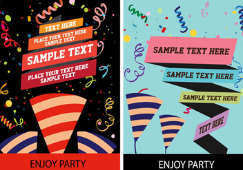 Party Poster Vector - Free vector #358579