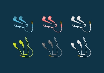 FREE EAR BUDS VECTOR - бесплатный vector #358679