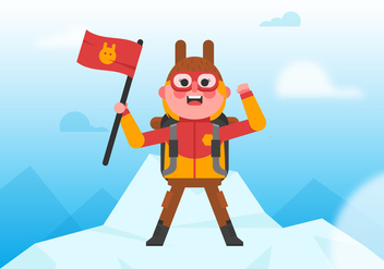 Vector Everest Climber - vector gratuit #358859
