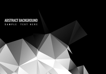 Free Black Polygon Vector Background - Kostenloses vector #358939
