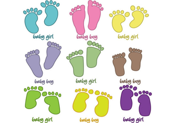 Baby Footprints Vector - Free vector #358999