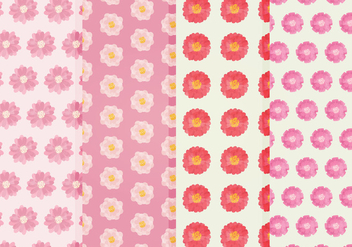 Vector Flower Patterns - Free vector #359249