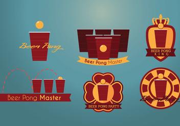 Beer Pong Vector - Free vector #359339