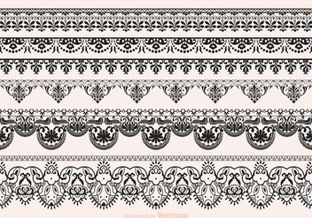 Free Vector Lace Vector Borders - Free vector #359409