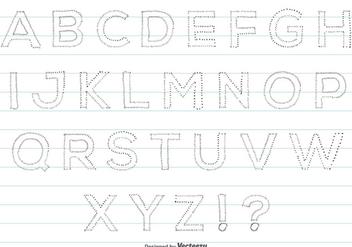 Hand Drawn Style Alphabet Set - Free vector #359519