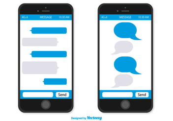 Smartphone With Message Bubbles - Free vector #359589