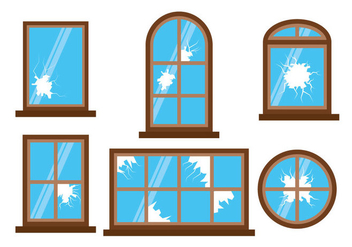 Broken Window Vector - vector #359649 gratis