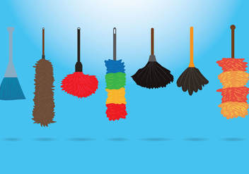 Feather Duster Vectors - Free vector #359809