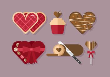 Vector Heart Desserts - бесплатный vector #359859