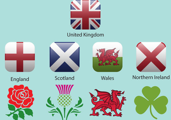 United Kingdom Flags And Emblems - Free vector #360009