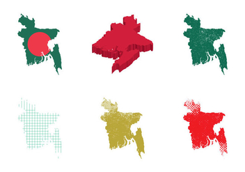 Free Bangladesh Map Vector Illustration - Free vector #360219