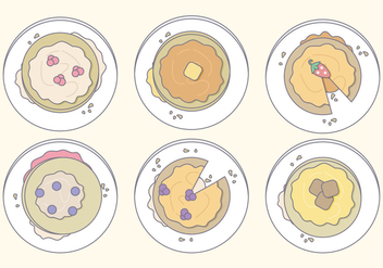 Vector Pancakes - vector gratuit #360429
