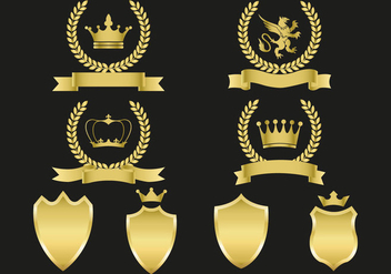 Free Gold Emblems Vector - Free vector #360449