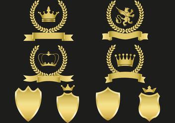 Free Gold Emblems Vector - Kostenloses vector #360449