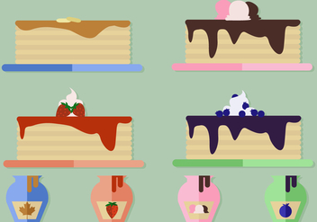 Free Pancake Vector - vector gratuit #360579