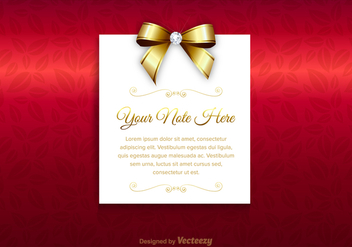 Free Luxury Vector Card - Kostenloses vector #360689