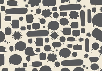Free Speech Bubbles Background Vector - Kostenloses vector #360809