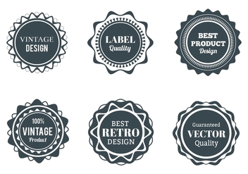 Free Vector Wappen, Labels And Badges set - Free vector #360869
