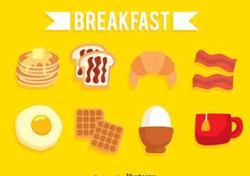 Breakfast Icons Set - vector gratuit #361109