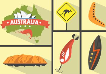 Australian Vector Icons - бесплатный vector #361139