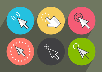 Mouse Click Vector Icons - бесплатный vector #361159