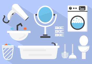 Bathroom Vector Background - Free vector #361239
