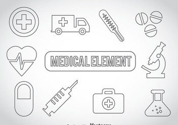 Medical Outline Icons - Free vector #361659