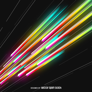 Colorful lasers beams - Free vector #361719