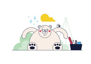 Free Bear Vector - Free vector #361809