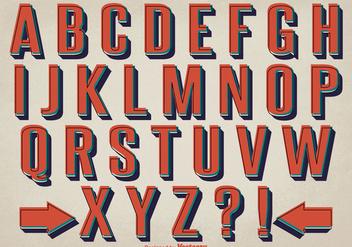 Retro Style Alphabet Set - Kostenloses vector #362099