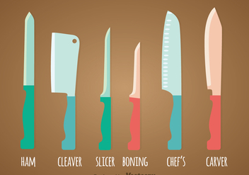 Knife Sets Vector - бесплатный vector #362179