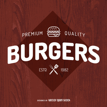 Burgers logo design - Free vector #362229