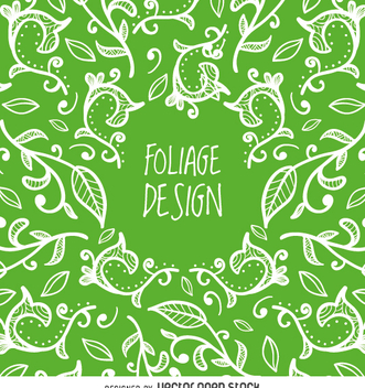 Green floral background - vector #362289 gratis