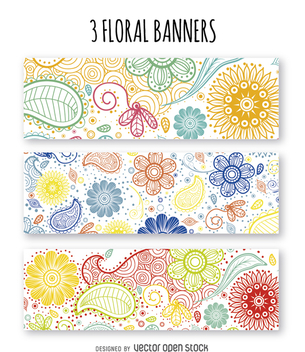 Floral banner set - Kostenloses vector #362349