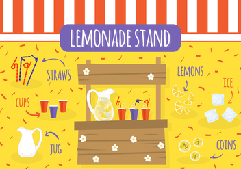 Free Lemonade Stand Vector - Free vector #362509