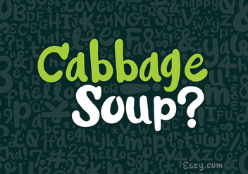 Cabbage Soup Vector Font - Free vector #362599
