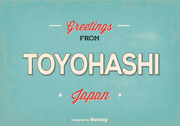 Retro Toyohashi Japan Greeting Illustration - Kostenloses vector #362659