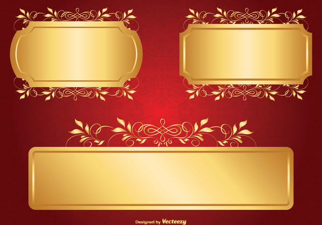 Gold Label Set - Free vector #362719