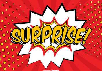 Comic Surprise Illustration - Free vector #362749