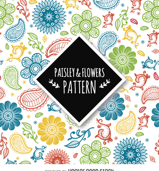 Colorful paisley background - Kostenloses vector #362999