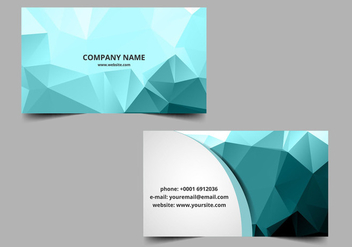 Free Vector Polygon Visiting Card - vector #363389 gratis