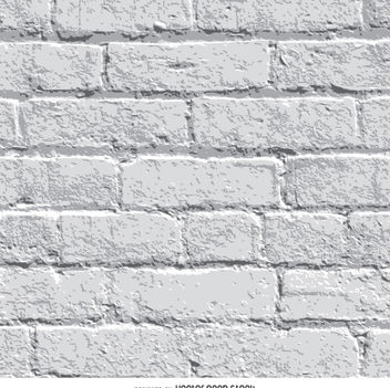 White brick wall background - Free vector #363509