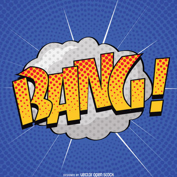 Pop art BANG sign - vector gratuit #363519