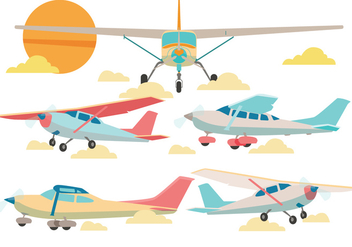 Cessna Airplane Vector - Free vector #363599