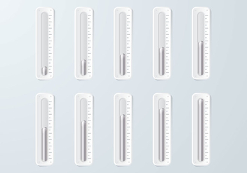 Mercury Goal Thermometer - Kostenloses vector #363739