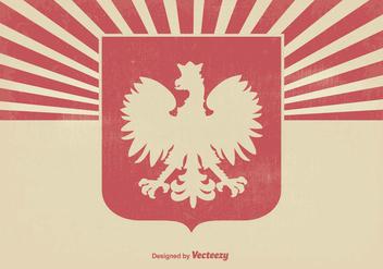 Polish Eagle Grunge Background - Free vector #363749