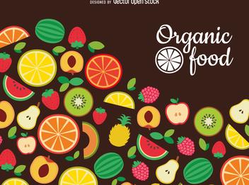Flat organic food backdrop - Free vector #363769