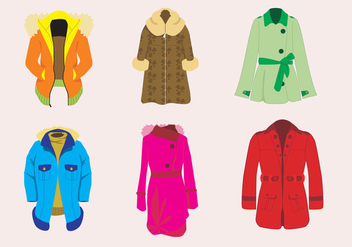 Stylish Winter Coat Vector - Free vector #364099