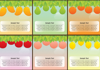 Fruit Tree Templates - Free vector #364149