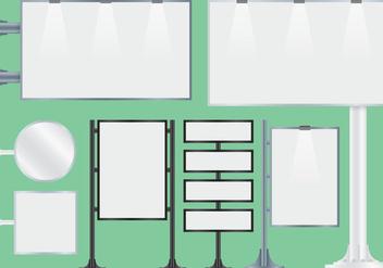 Blank Hoarding Billboard Vectors - Free vector #364329